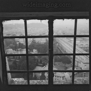 View from Saint Peter's Cupola stairway window. December 28, 1993.