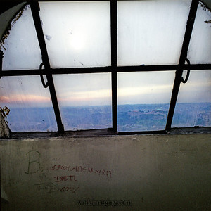 Window in the cupola of Saint Peter's. December 28, 1993.