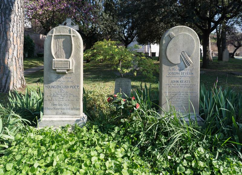 John Keats Grave, Protestant Cemetery, Rome