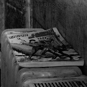 """""""Zagor Ladro Di Ombre"""" Detail from: http://SWC-Biogon.smugmug.com/photos/311681373_GKy2Q-L.jpg Ticket booth in the cupola of Saint Peter's."""