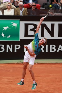 Alex Zverev - serve off ground