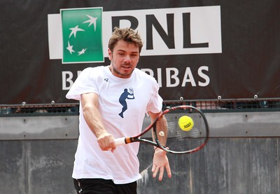 Stan Wawrinka Practice (85) great with ball dunlop fort