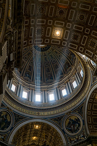 Light Beams Coming in from the Windows in St Peter's Cathedral in Vatican City