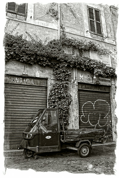 Battered van, Rome