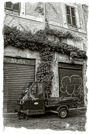Battered van, Rome