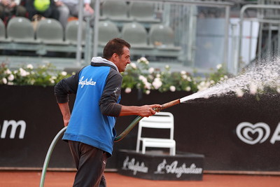 Watering the clay