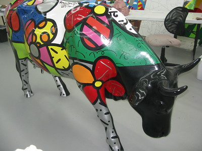 Flower Power CowRomero BrittoCowParade NYC 2000
