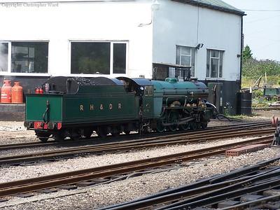 Southern Maid backs onto a train