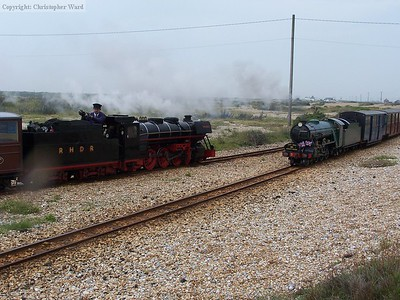 Southern Maid and Black Prince meet at the loop entrance