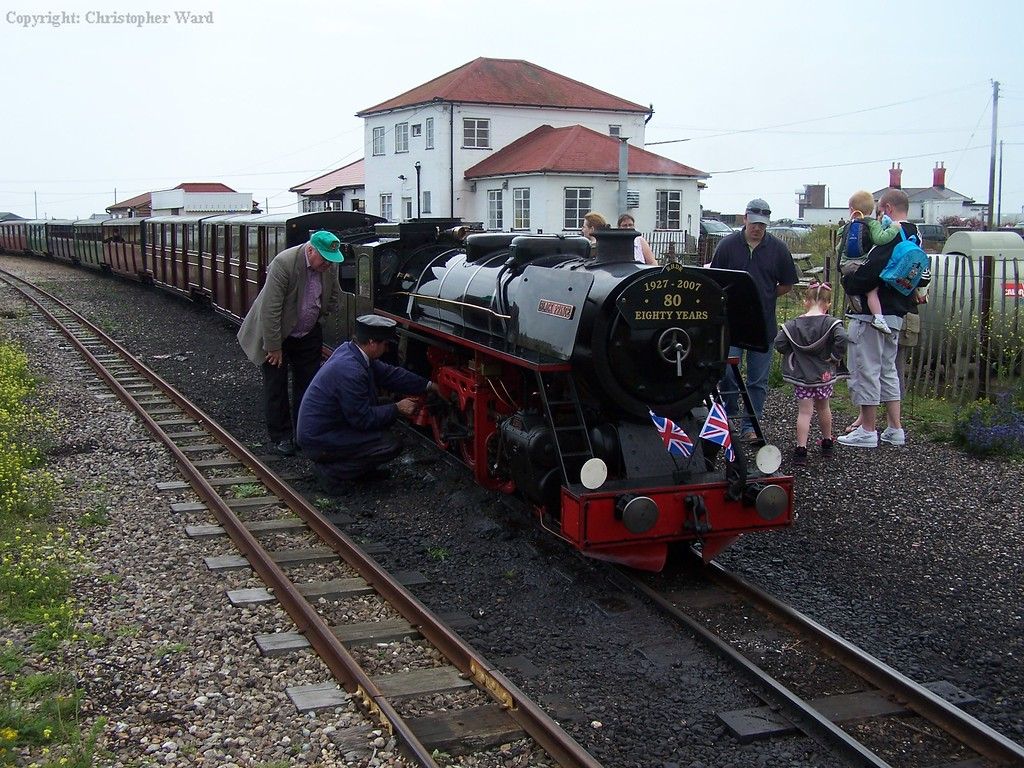 Black Prince sits at Dungeness
