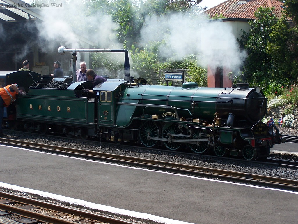 Southern Maid sits at New Romney