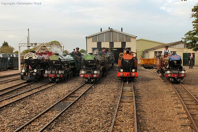After the line-up and official photographs, the crews return to their locomotives for the final act