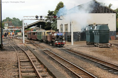 No.5 heads away with the Dymchurch train