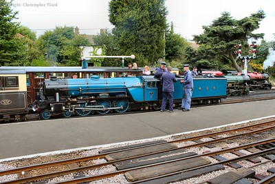 A busy scene at the Hythe end of New Romney as Hurricane, Typhoon and Winston Churchill prepare for their next duties