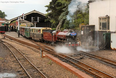 Hercules pulls away from New Romney with a local train to Dymchurch