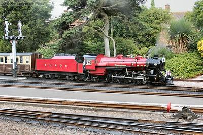 No.9 gets her train underway