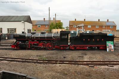 Black Prince, out of service awaiting overhaul, sits outside the shed