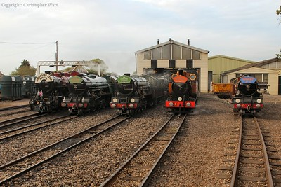 Winston Churchill, Southern Maid, Typhoon, The Bug and Hercules line up in the weak evening sunshine