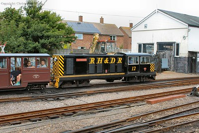 The diesel gets away from New Romney