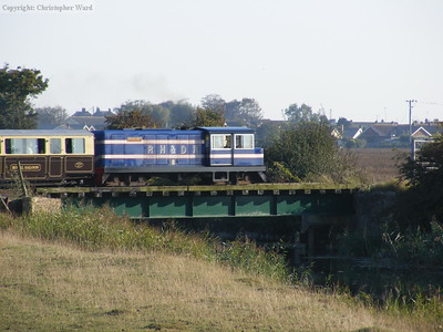 Captain Howey (and the Royal Saloon) cross the bridge