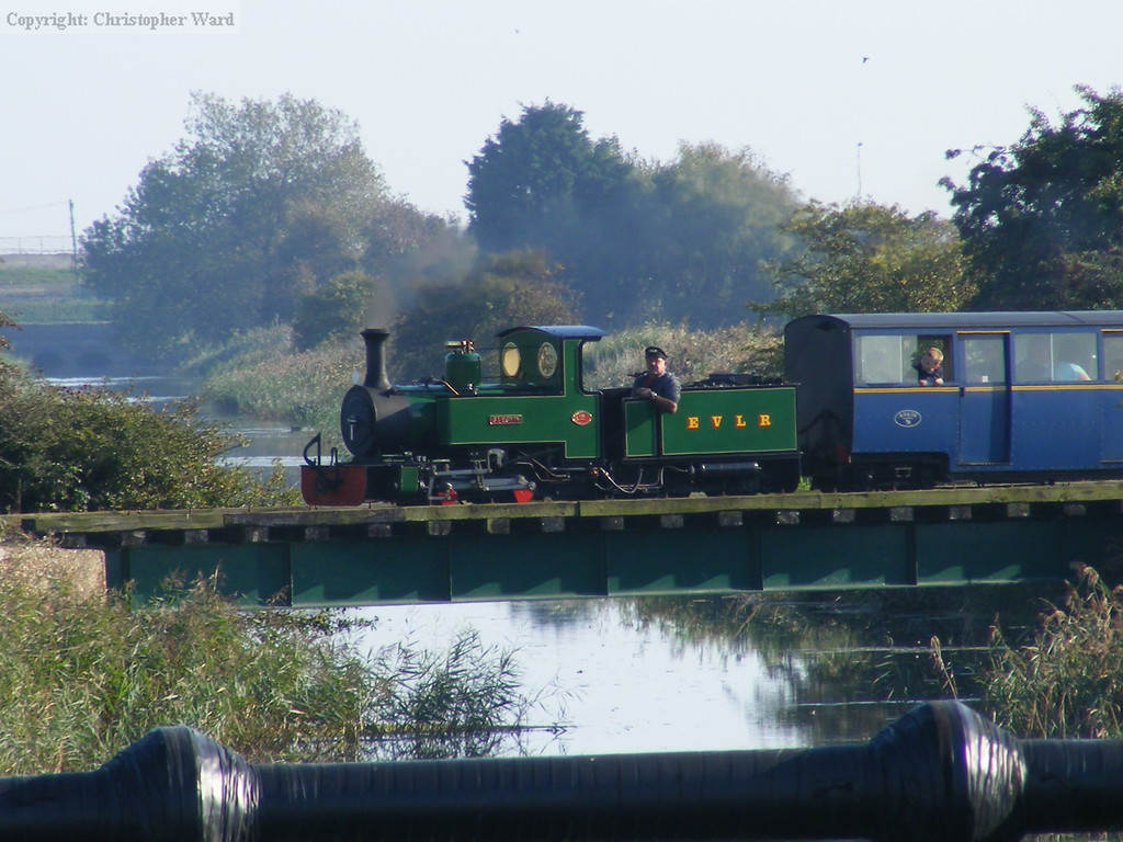St. Egwin crosses the ditch with a Hythe train