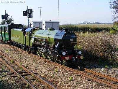 Green Goddess with a Hythe train