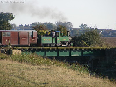 St. Egwin heads back to New Romney with her last working of the day
