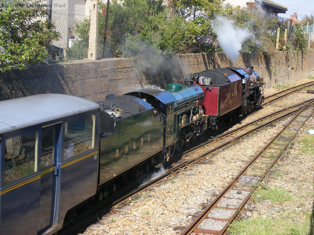 Winston Churchill and Southern Maid slow for the New Romney stop