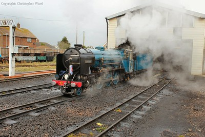 Hurricane blows off steam as she prepares to move off shed