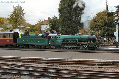 No.3 takes water prior to the trip to Hythe