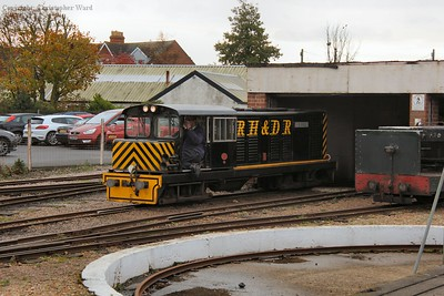 J. B. Snell waits to undertake the shunting