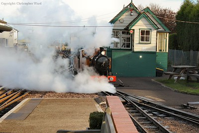 No.4 prepares for turning for a run to Hythe
