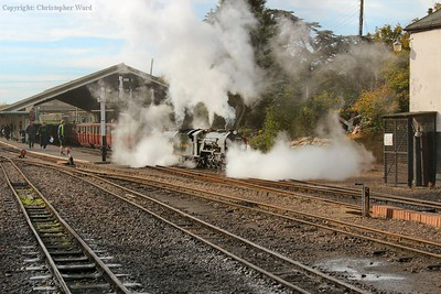No.2 gets away from New Romney in a cloud of steam