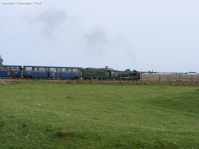 Typhoon passes with the last Dungeness train of the day