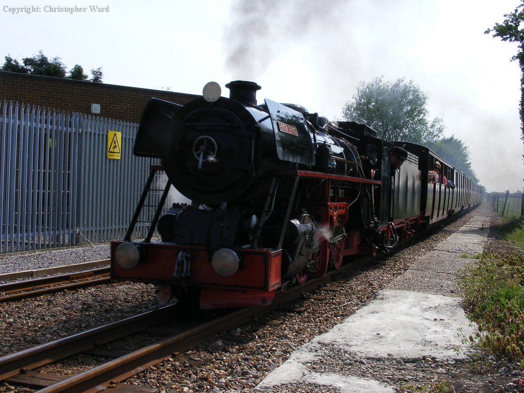 Black Prince passes through the platforms at Burmarsh Road