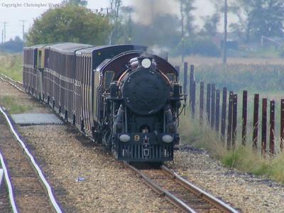Winston Churchill with a lengthy train