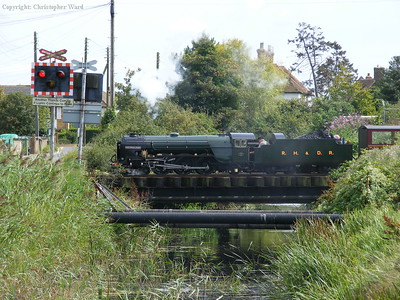 Northern Chief crosses the brook at Dymchurch