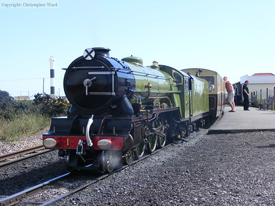 Green Goddess rests at Dungeness