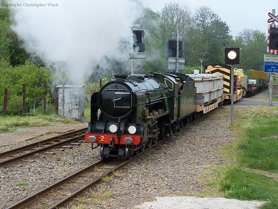 Northern Chief returns to New Romney with the freight