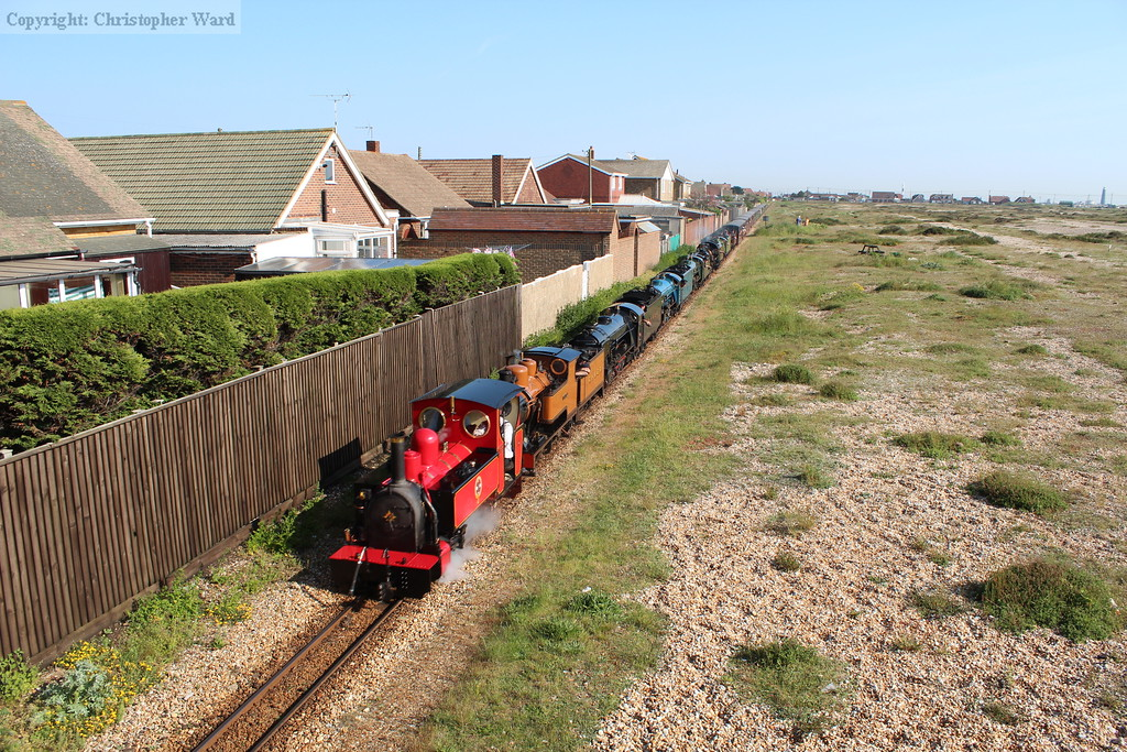 8 engines and one train, it must be the RHDR