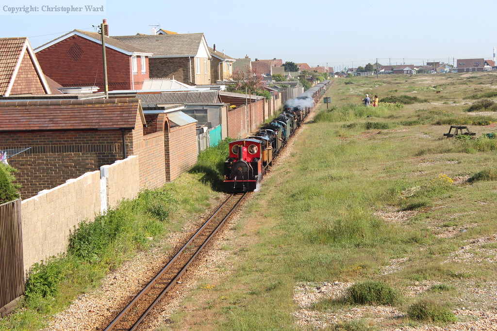 The octo-header approaches Kerton Road