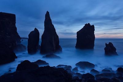 Twilight Seastacks