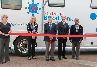 Blood Mobile Ribbon Cutting