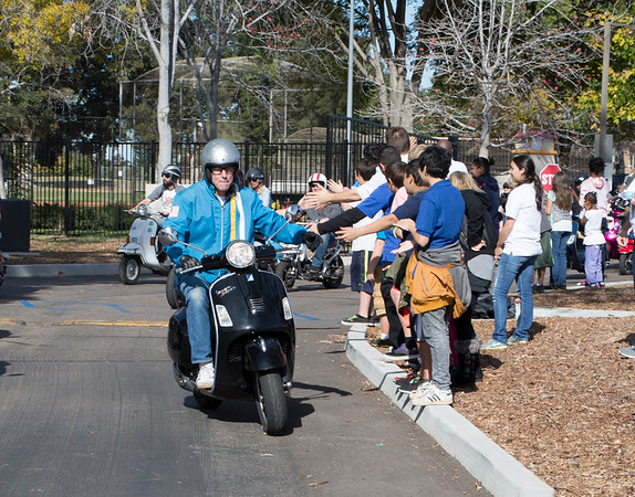 Vespa Scooter Toy Drive at San Diego Center for Children