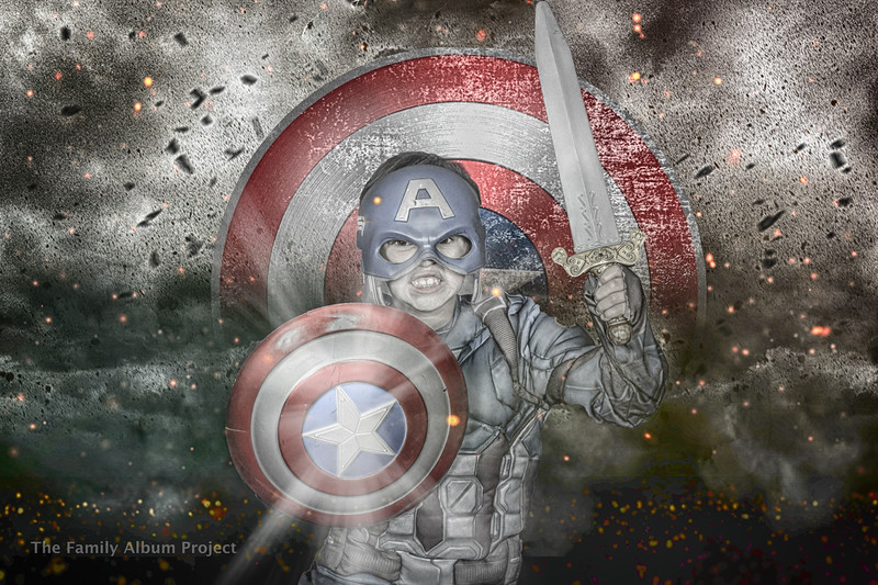 Captain America Inspired Digital Background