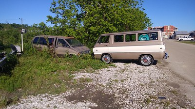 A much newer sibling, the Aerostar was abandon after being flooded during hurricane Michael .Brothers from another mother.