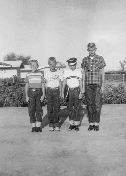 1956 Ron, Mike, Butch & Nollie - First Day of School_0001-EIP (Adjusted)