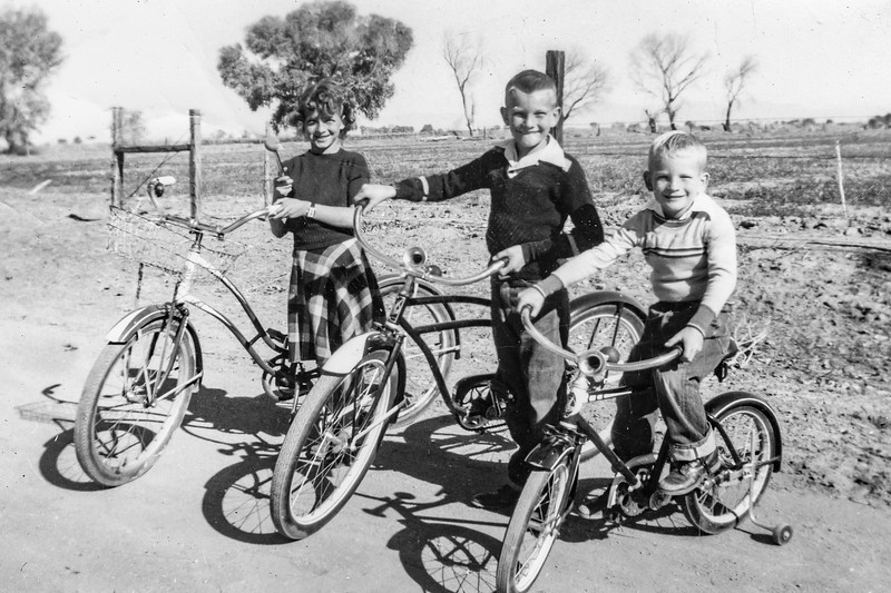 1951c Charlotte, Nollie & Ron with their Christmas Bikes_0001-EIP (Adjusted)