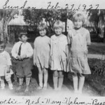 1927-02-27 Dottie, Ned, Mary, Velva & Beulah