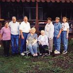 1999 Velva's 80th Birthday -- Charlotte, Norris, Ron, Velva, Anna Mae, Vici, Tami & Laurinda